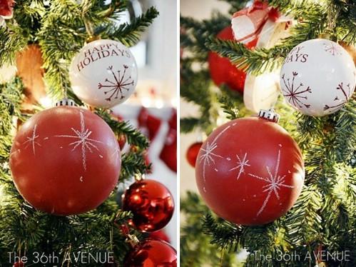 More chalkboard tree ornaments.