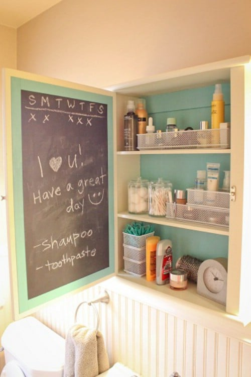 Make use of inside cabinet drawers.