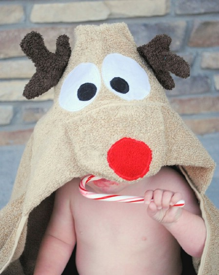 Rudolph Hooded Towel
