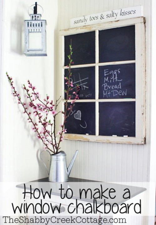 Chalkboard window.