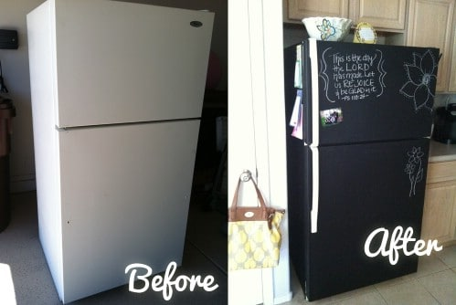 Turn your fridge into a chalkboard.