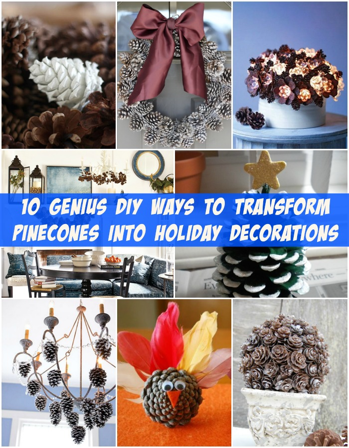 10 Genius DIY Ways to Transform Pinecones into Holiday Decorations