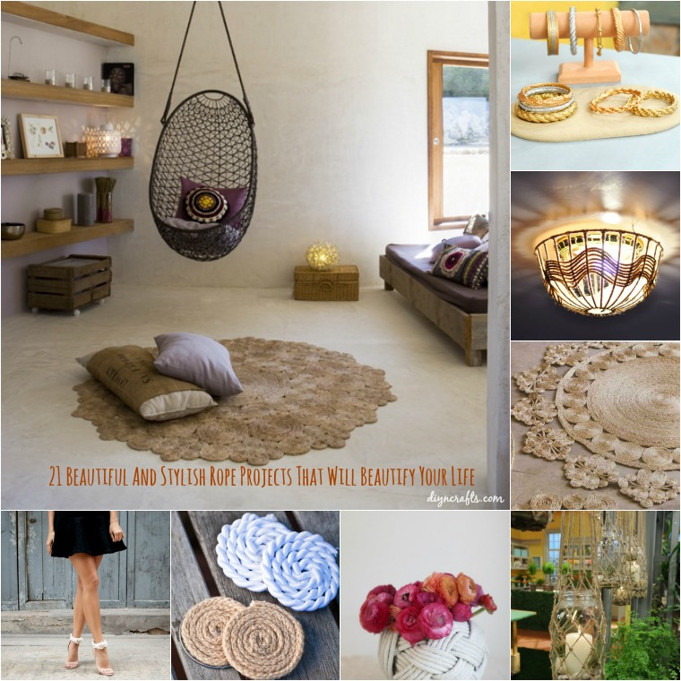 21 Creative Diy Lighting Ideas: 21 Beautifully Stylish Rope Projects That Will Beautify