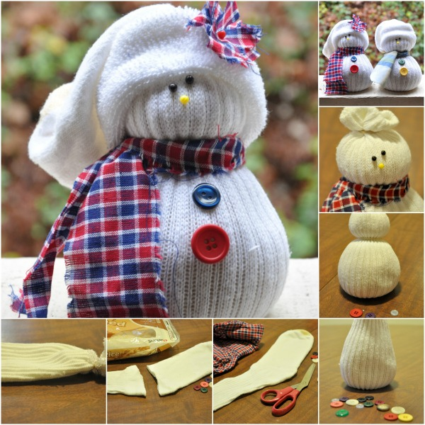 DIY No-Sew Sock Snowmen