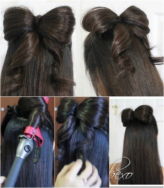 Tie it in a Bow - 12 Super Cute DIY Christmas Hairstyles for All Lengths