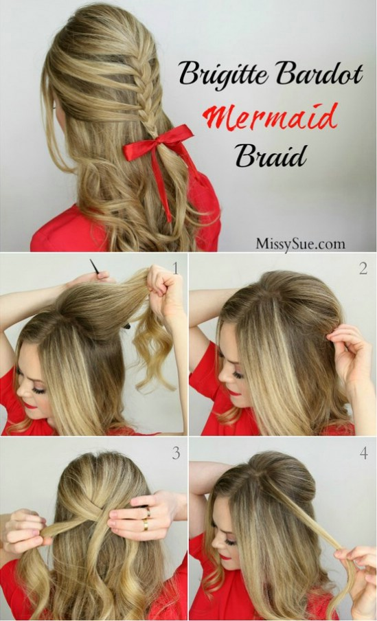12 Super Cute Diy Christmas Hairstyles For All Lengths Diy Crafts
