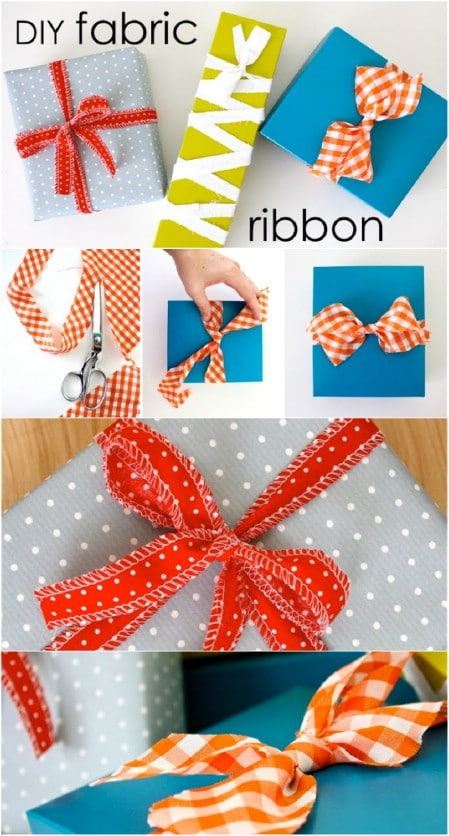 Cut fabric to use as a ribbon.