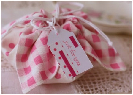 Fabric gift pouch.