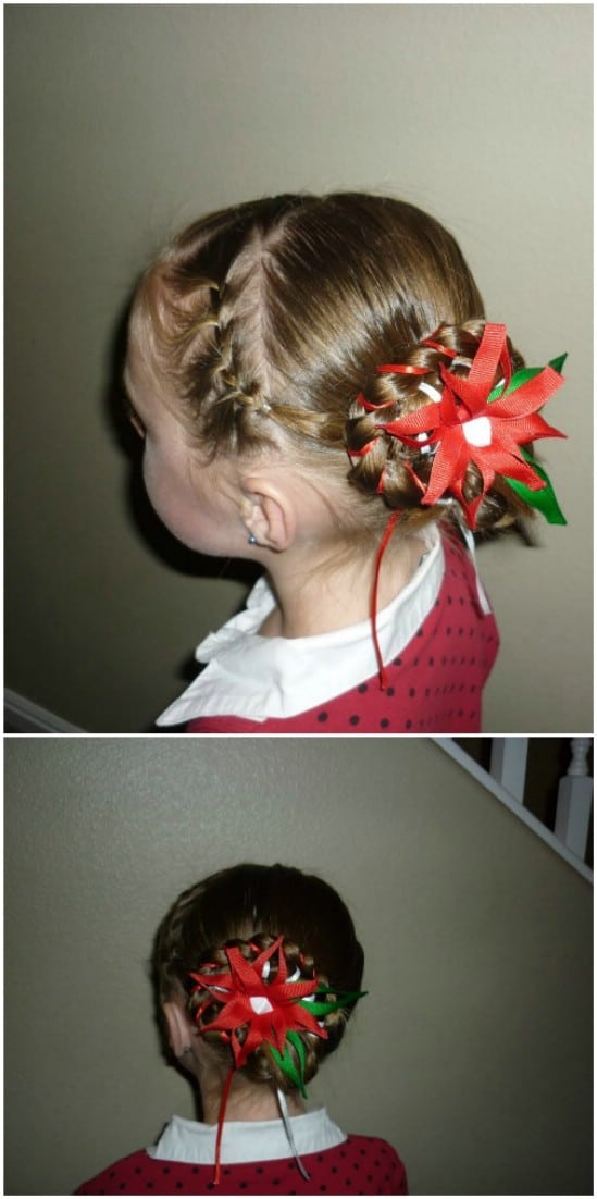 Holiday Bun - 12 Super Cute DIY Christmas Hairstyles for All Lengths