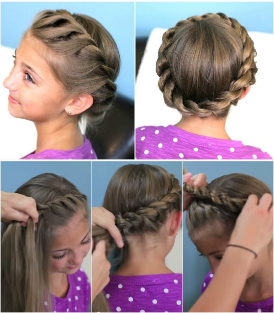 Crown Rope Twist - 12 Super Cute DIY Christmas Hairstyles for All Lengths