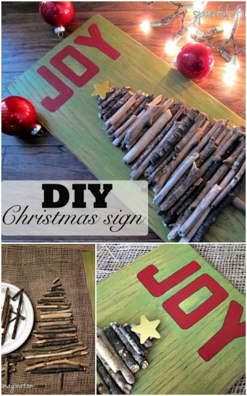 Wooden Tree Sign - 20 Magical DIY Christmas Home Decorations You'll Want Right Now