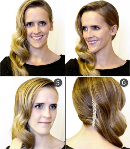 Retro Side Sweep - 12 Super Cute DIY Christmas Hairstyles for All Lengths