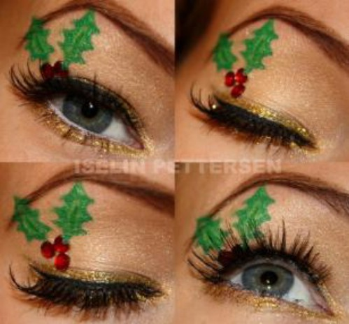 10 Stylishly Festive Christmas Makeup Ideas , DIY \u0026 Crafts