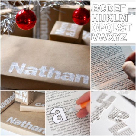 Amazingly awesome typographic gift wrap