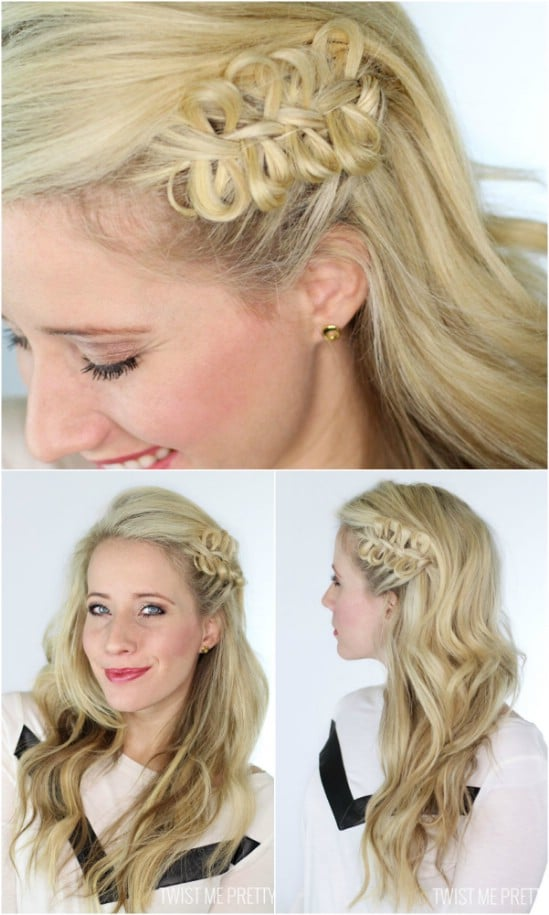 Bow Braid - 12 Super Cute DIY Christmas Hairstyles for All Lengths