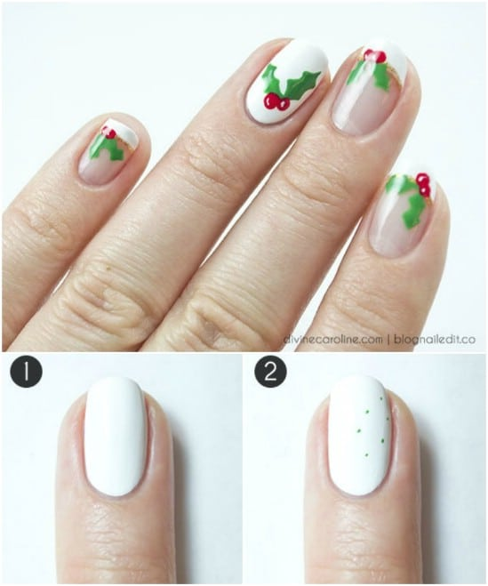 Deck the Halls… - 20 Fantastic DIY Christmas Nail Art Designs That Are Borderline Genius