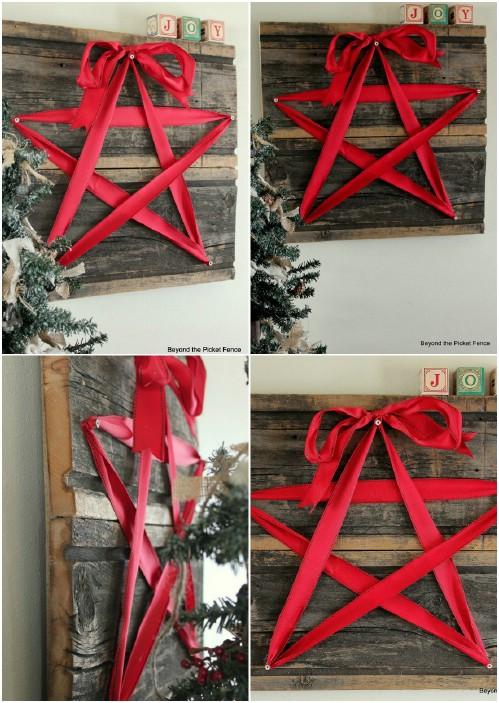 Ribbon Star - 20 Magical DIY Christmas Home Decorations You'll Want Right Now