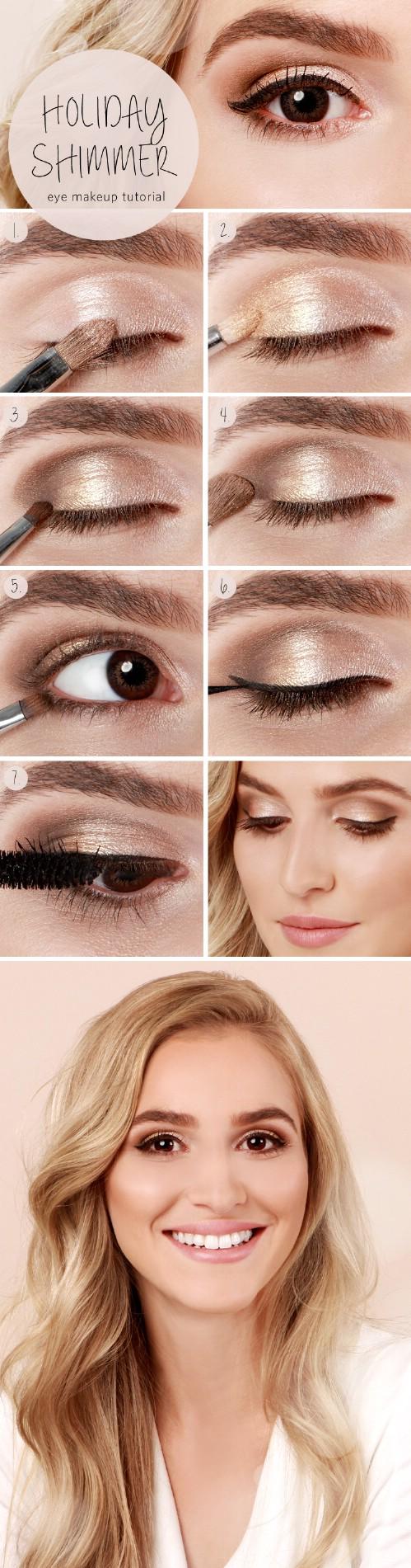 Subtle Shimmer - 10 Stylishly FestiveChristmas Makeup Ideas