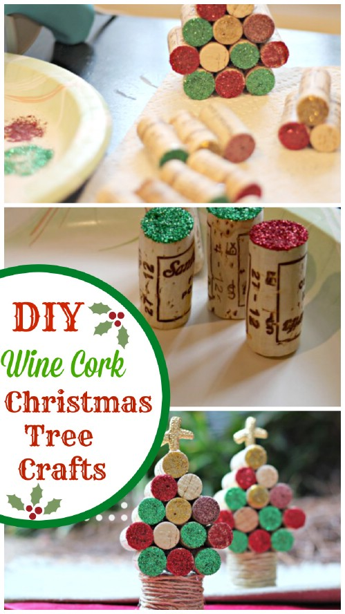Wine Cork Trees - 20 Genius DIY Recycled and Repurposed Christmas Crafts