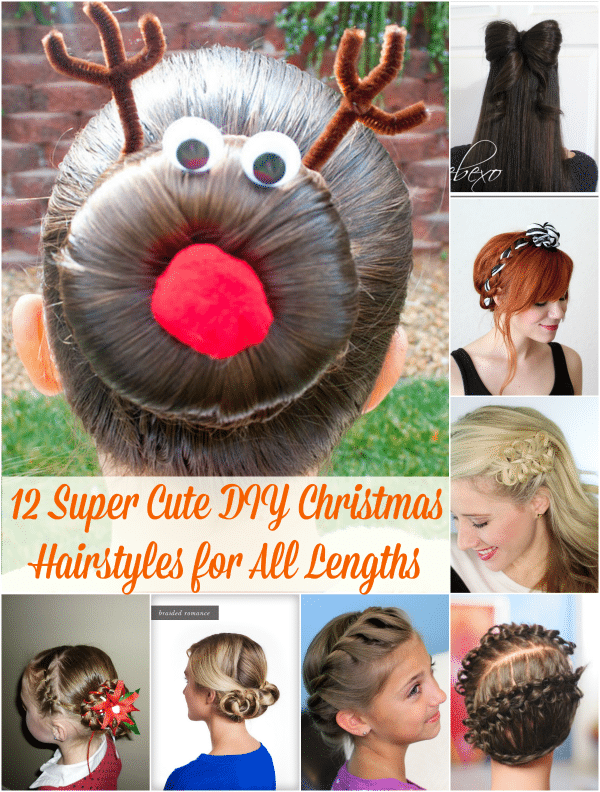 12 Super Cute DIY Christmas Hairstyles for All Lengths , DIY