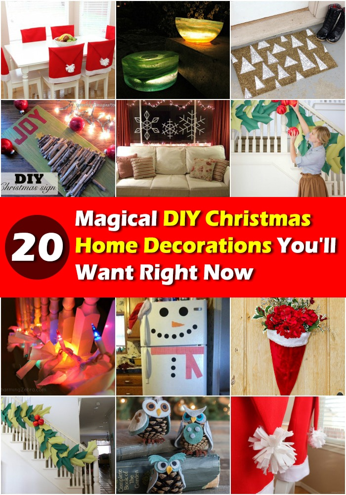 20 Magical DIY Christmas Home Decorations You'll Want ...