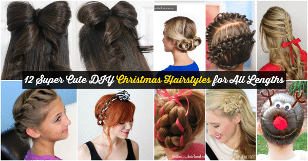 Christmas Hairstyles For Long Hair.12 Super Cute Diy Christmas Hairstyles For All Lengths Diy
