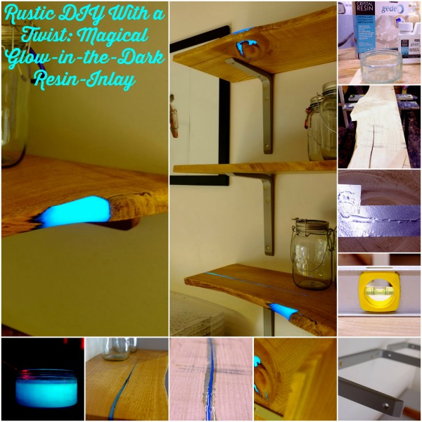 Rustic DIY With a Twist: Magical Glow-in-the-Dark Resin-Inlay