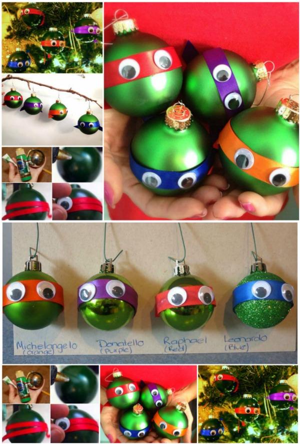 Adorable Diy Ninja Turtle Christmas Ornaments Diy Amp Crafts