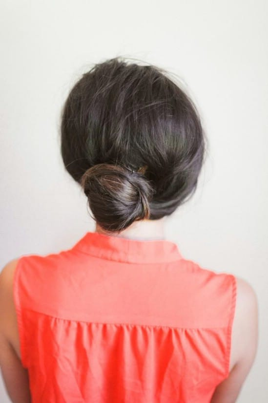 Quick Bun - 21 Unexpectedly Stylish Ways to Wear Bobby Pins