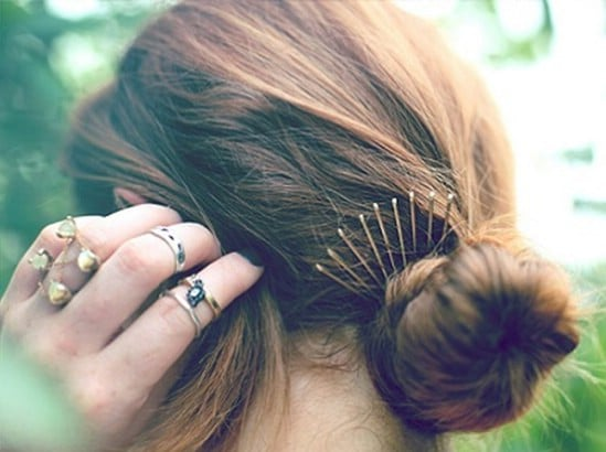 Crown - 21 Unexpectedly Stylish Ways to Wear Bobby Pins