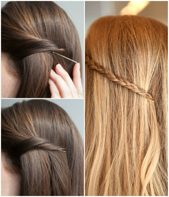 Hidden Pin - 21 Unexpectedly Stylish Ways to Wear Bobby Pins