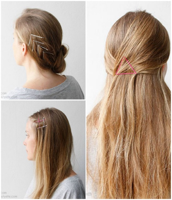 Chevron - 21 Unexpectedly Stylish Ways to Wear Bobby Pins