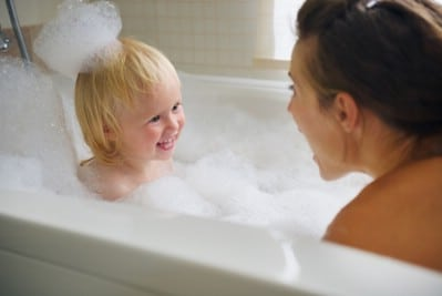 Keep your warm bath from drying out your skin.