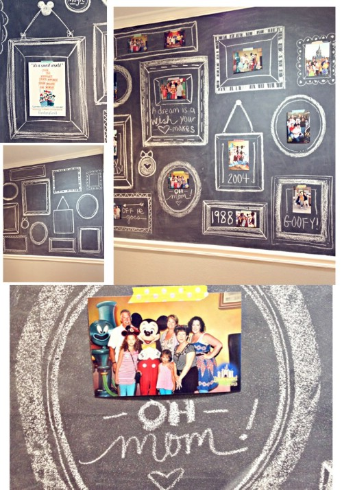 Chalkboard Wall - 20 Cleverly Creative Ways to Display Your Cherished Photos