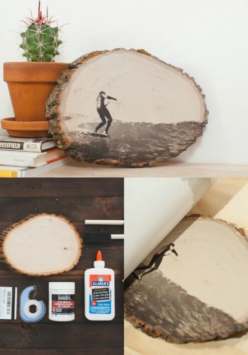 Wood Slice - 20 Cleverly Creative Ways to Display Your Cherished Photos