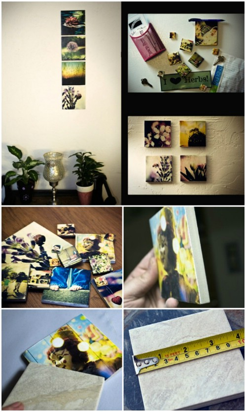 Ceramic Tiles - 20 Cleverly Creative Ways to Display Your Cherished Photos