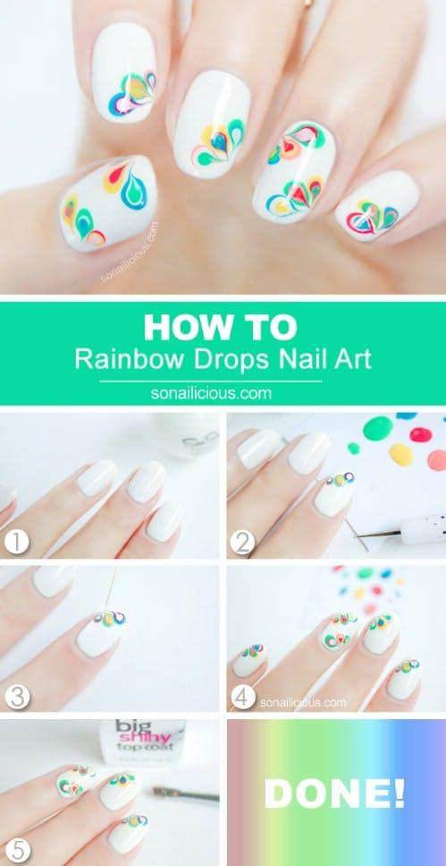 Marble Rainbow Drops