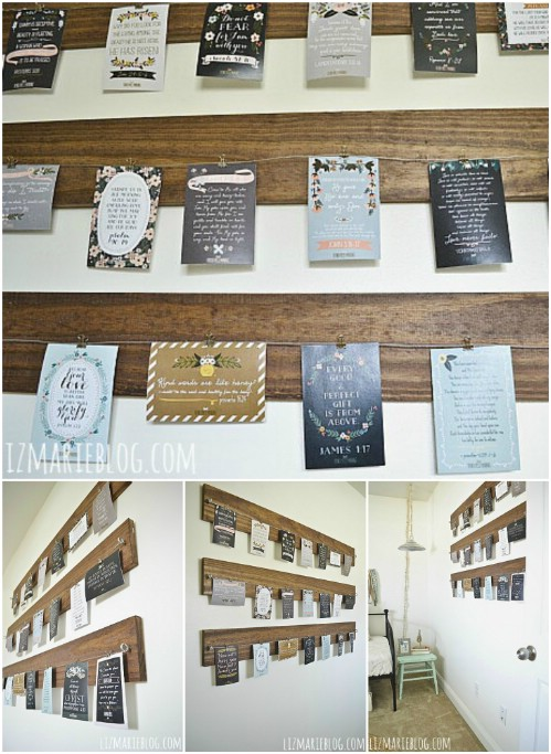 Wood and Wire Display - 20 Cleverly Creative Ways to Display Your Cherished Photos