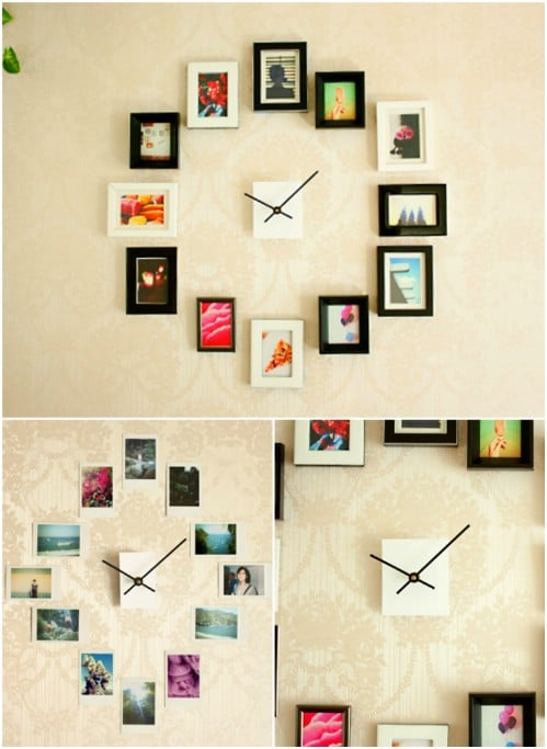 Photo Clock - 20 Cleverly Creative Ways to Display Your Cherished Photos