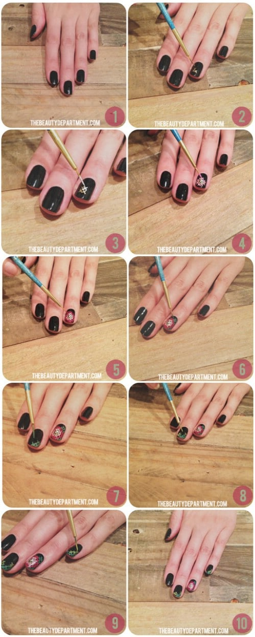 Cross Stitch Nails