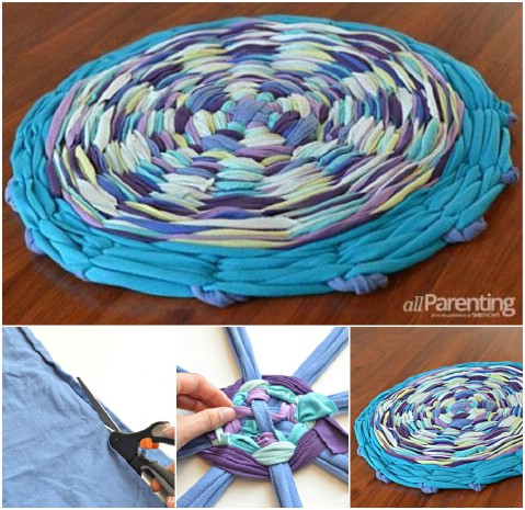 The Helping Hula Hoop - 30 Magnificent DIY Rugs to Brighten up Your Home