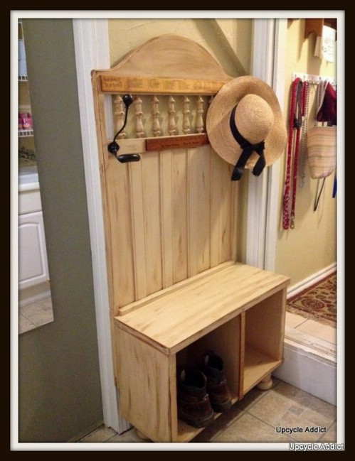 Entrance Bench - 20 Delightfully Creative and Functional Ways to Repurpose Old Cribs