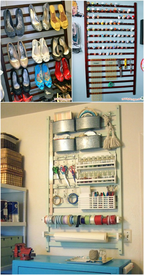 Craft Organizer - 20 Delightfully Creative and Functional Ways to Repurpose Old Cribs
