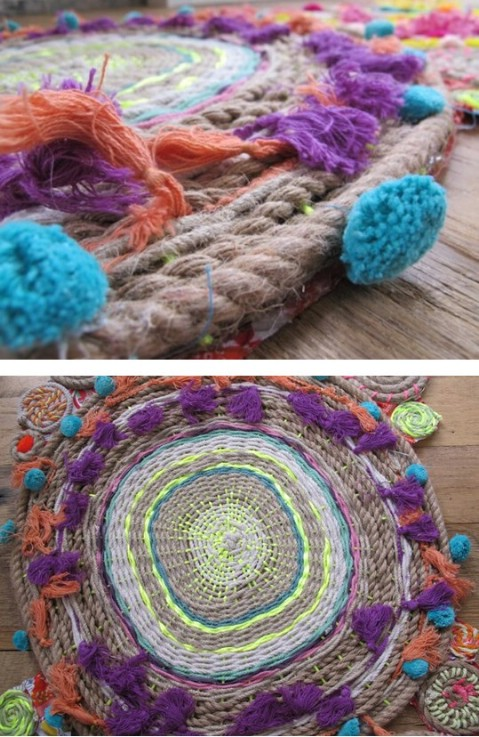 Rope Swirl Tapestries - 30 Magnificent DIY Rugs to Brighten up Your Home
