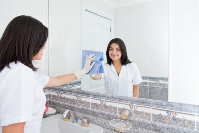 Clean your mirrors - 51 Extraordinary Everyday Uses for Hydrogen Peroxide