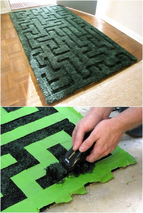 Magnificent Maze - 30 Magnificent DIY Rugs to Brighten up Your Home
