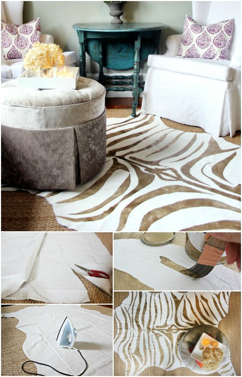 Zebra Print - 30 Magnificent DIY Rugs to Brighten up Your Home