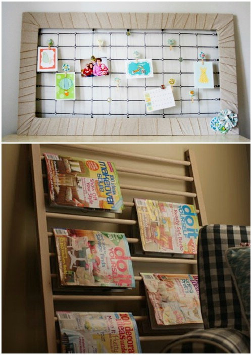 Memo Board - 20 Delightfully Creative and Functional Ways to Repurpose Old Cribs