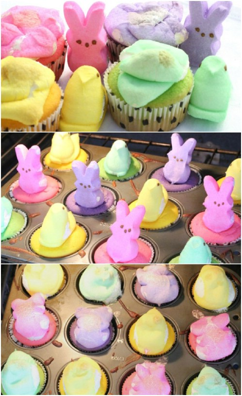 Peep-Topped Cupcakes