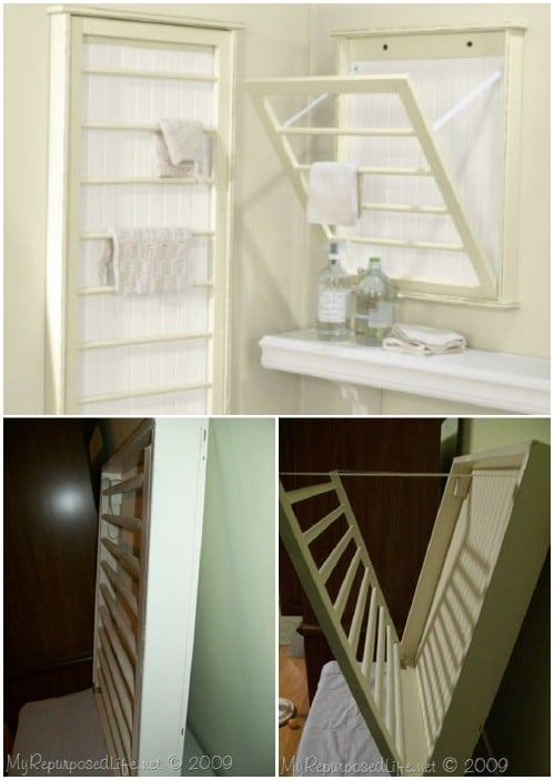 Drying Rack - 20 Delightfully Creative and Functional Ways to Repurpose Old Cribs